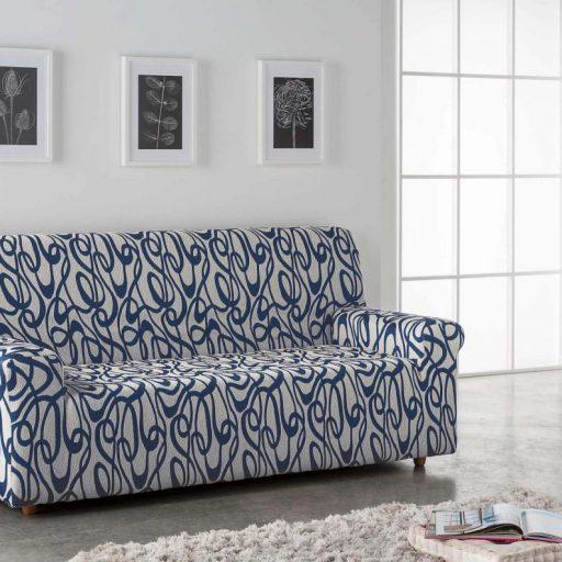 funda sofa lazos azul